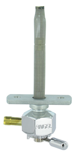 "Single Outlet Reserve Hex Valve-1/4"" NPT-1000 Series-5/16"" hose barb-with adapter-Aluminum"