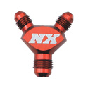 "NX Fitting -3 x 3 x 3 Billet Pure-Flo ""Y"" Fitting (Red)"