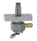 "Single Outlet On/Off Only Hex Valve-1/4"" NPT-4000 Series-3/8"" hose barb-with adapter-Aluminum"