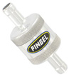 Inline SS Fuel Filter Satin 3/8 In 3/8 Out